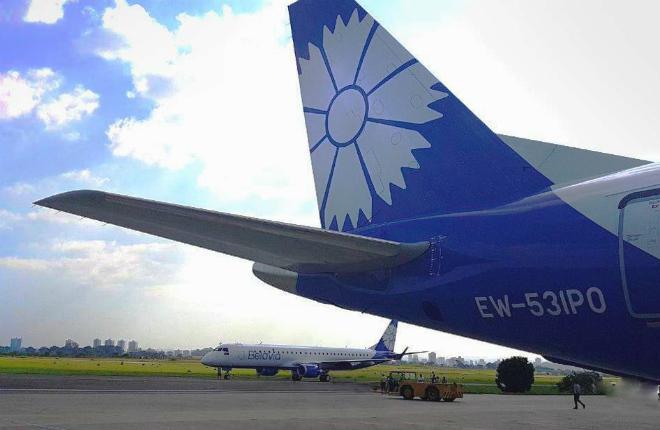 Авиаперевозчик Белавиа получил новый самолет Embraer-195